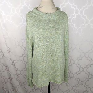 Eileen Fisher Fisherman Knit Wool Cashmere Sweater